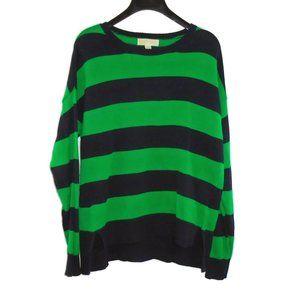 MICHAEL Michael Kors Striped Sweater L Green Blue